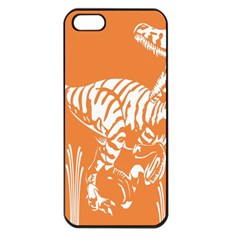Animals Dinosaur Ancient Times Apple Iphone 5 Seamless Case (black)