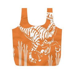 Animals Dinosaur Ancient Times Full Print Recycle Bags (m)