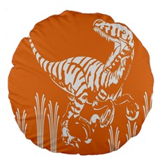 Animals Dinosaur Ancient Times Large 18  Premium Flano Round Cushions