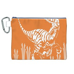 Animals Dinosaur Ancient Times Canvas Cosmetic Bag (xl)