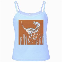 Animals Dinosaur Ancient Times Baby Blue Spaghetti Tank