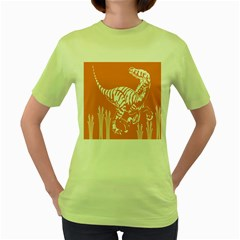Animals Dinosaur Ancient Times Women s Green T Shirt