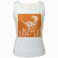 Animals Dinosaur Ancient Times Women s White Tank Top