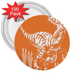 Animals Dinosaur Ancient Times 3  Buttons (100 Pack)