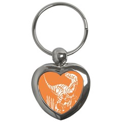Animals Dinosaur Ancient Times Key Chains (heart)