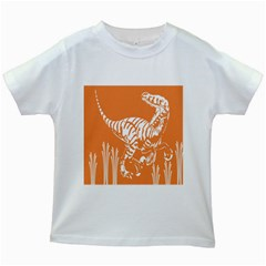 Animals Dinosaur Ancient Times Kids White T Shirts