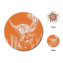 Animals Dinosaur Ancient Times Playing Cards (round)