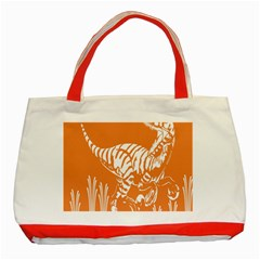 Animals Dinosaur Ancient Times Classic Tote Bag (red)