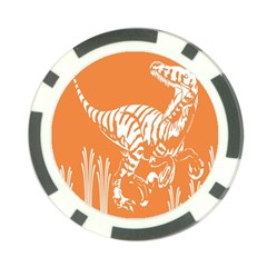 Animals Dinosaur Ancient Times Poker Chip Card Guard