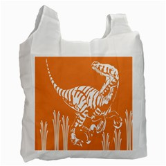 Animals Dinosaur Ancient Times Recycle Bag (one Side)