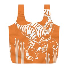Animals Dinosaur Ancient Times Full Print Recycle Bags (l)