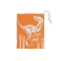 Animals Dinosaur Ancient Times Drawstring Pouches (small)