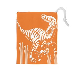 Animals Dinosaur Ancient Times Drawstring Pouches (large)