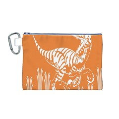 Animals Dinosaur Ancient Times Canvas Cosmetic Bag (m)