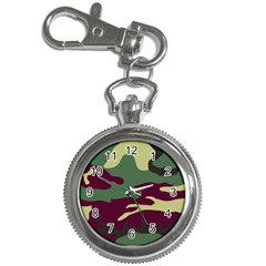 Camuflage Flag Green Purple Grey Key Chain Watches