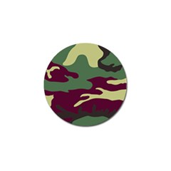 Camuflage Flag Green Purple Grey Golf Ball Marker (4 Pack)