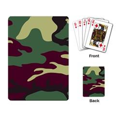 Camuflage Flag Green Purple Grey Playing Card