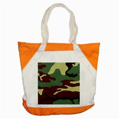 Camuflage Flag Green Purple Grey Accent Tote Bag