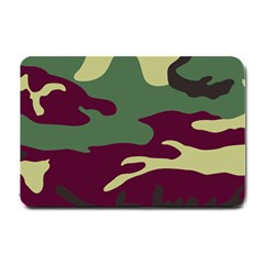 Camuflage Flag Green Purple Grey Small Doormat