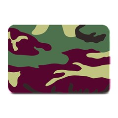 Camuflage Flag Green Purple Grey Plate Mats