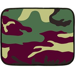 Camuflage Flag Green Purple Grey Fleece Blanket (mini)
