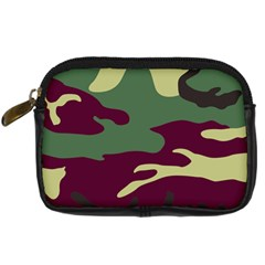 Camuflage Flag Green Purple Grey Digital Camera Cases