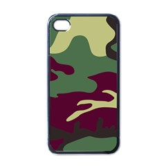 Camuflage Flag Green Purple Grey Apple Iphone 4 Case (black)