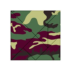 Camuflage Flag Green Purple Grey Acrylic Tangram Puzzle (4  X 4 )