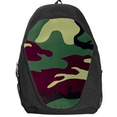 Camuflage Flag Green Purple Grey Backpack Bag