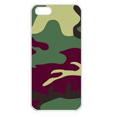 Camuflage Flag Green Purple Grey Apple Iphone 5 Seamless Case (white)