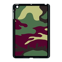 Camuflage Flag Green Purple Grey Apple Ipad Mini Case (black)