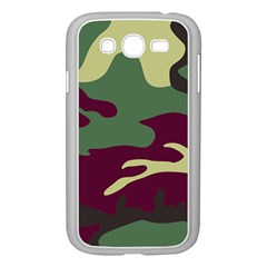 Camuflage Flag Green Purple Grey Samsung Galaxy Grand Duos I9082 Case (white)