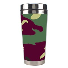 Camuflage Flag Green Purple Grey Stainless Steel Travel Tumblers