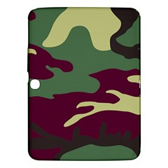 Camuflage Flag Green Purple Grey Samsung Galaxy Tab 3 (10 1 ) P5200 Hardshell Case