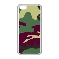 Camuflage Flag Green Purple Grey Apple Iphone 5c Seamless Case (white)
