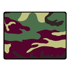 Camuflage Flag Green Purple Grey Double Sided Fleece Blanket (small)