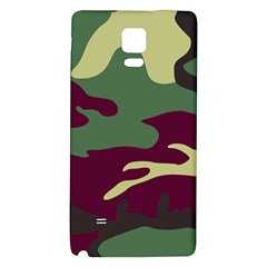 Camuflage Flag Green Purple Grey Galaxy Note 4 Back Case