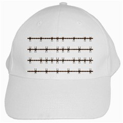 Barbed Wire Brown White Cap