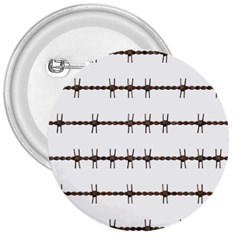 Barbed Wire Brown 3  Buttons