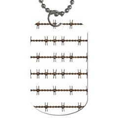 Barbed Wire Brown Dog Tag (one Side)