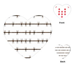 Barbed Wire Brown Playing Cards (heart)