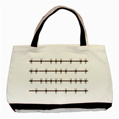Barbed Wire Brown Basic Tote Bag