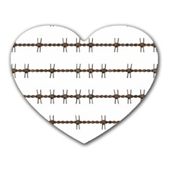 Barbed Wire Brown Heart Mousepads
