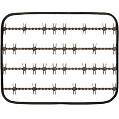 Barbed Wire Brown Fleece Blanket (mini)