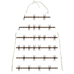 Barbed Wire Brown Full Print Aprons