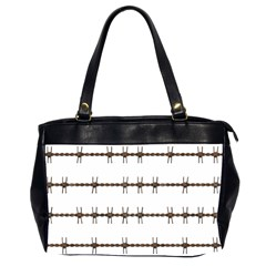 Barbed Wire Brown Office Handbags (2 Sides)