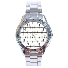Barbed Wire Brown Stainless Steel Analogue Watch