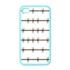 Barbed Wire Brown Apple Iphone 4 Case (color)
