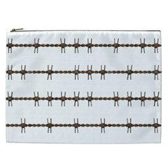 Barbed Wire Brown Cosmetic Bag (xxl)
