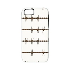 Barbed Wire Brown Apple Iphone 5 Classic Hardshell Case (pc+silicone)